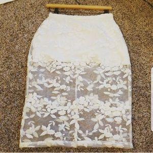 NWOT Misha collection Rosalia lace skirt